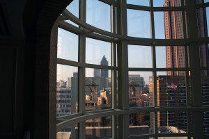 View of downtown Atlanta through window